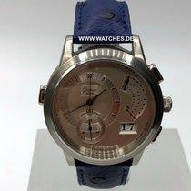 Glashütte Original Chronograph 39mm Handaufzug gebraucht PanoRetroGraph Silber