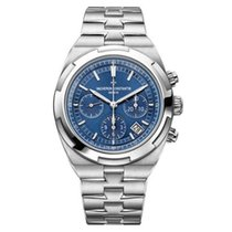 Vacheron Constantin Steel Automatic Blue No numerals 42.5mm new Overseas Chronograph