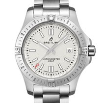 Breitling Chronomat Colt Steel 41mm Silver No numerals