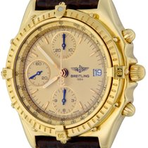 Breitling Yellow gold Automatic Gold No numerals 40mm pre-owned Chronomat