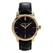 H.Moser & Cie. Red gold Manual winding Black 40.8mm pre-owned Endeavour