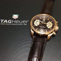 泰格豪雅 新的 自動發條 透視底蓋 螢光指針 限量發行版 螺擰式錶冠 螢光刻度 43.0mm 玫瑰金 藍寶石玻璃