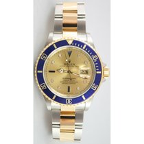 Rolex Submariner 16613 Stainless Steel and 18K Gold Blue...