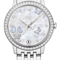 Omega White gold Automatic Mother of pearl 32.7mm new De Ville Prestige