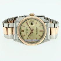 Rolex Datejust 36 mm acciaio e oro rosa gold 18Kt ref. 1601