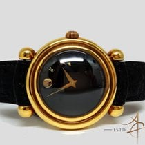 모바도 옐로우골드 자동 Movado Museum Bubble 110th Anniversary 18k Gold Limited 74/1 중고시계