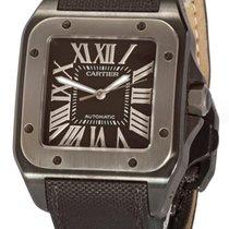 Cartier Titanium Automatic Black Roman numerals 51mm pre-owned Santos 100