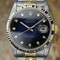 Rolex Ref 16233  Men's 18K Gold SS Diamond Watch 36mm 1994...