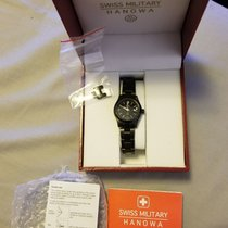 Swiss Military Black Lon 100m Wr Freedom Ladies Watch 6-7023.1...