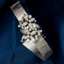 Omega Double Marquis Diamond Set Flower Concealed Wristwatch