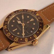 Rolex GMT-Master Yellow gold 38mm Black No numerals