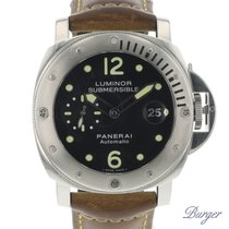 Panerai Luminor Submersible Acier 44mm Noir Arabes