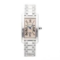 Cartier Tank Américaine White gold 41.5mm Silver Roman numerals United States of America, Pennsylvania, Bala Cynwyd