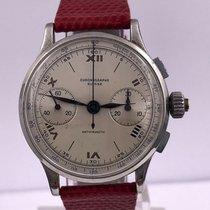 Chronographe Suisse Cie Staal 40mm Handopwind tweedehands