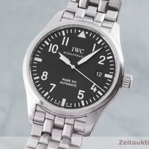 IWC Pilot Mark Stal 39mm Czarny