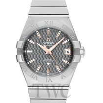 Omega Constellation Men Stahl 38mm Grau