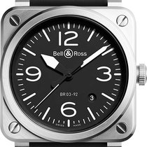 Bell & Ross BR 03-92 Steel Steel 42mm Black Arabic numerals United States of America, California, Moorpark