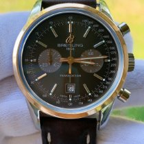 Breitling Transocean 38 Steel Brown No numerals United States of America, Michigan, Ann Arbor