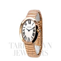Cartier Baignoire Rose gold 32mm Silver Roman numerals United States of America, New York, Hartsdale