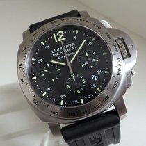 Panerai Luminor Chrono Aço 44mm Preto