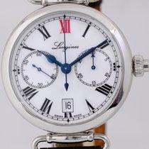 Longines Heritage Chronograph Column-Wheel Edelstahl Eindrücke...