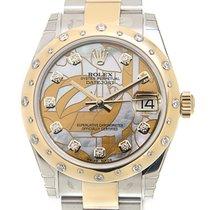 勞力士 Datejust Gold Steel Diamond White Automatic 178343GMOPFLO_O