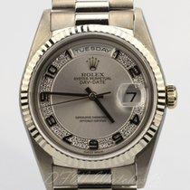Rolex 18k White Gold Day-Date President Myriad Diamond