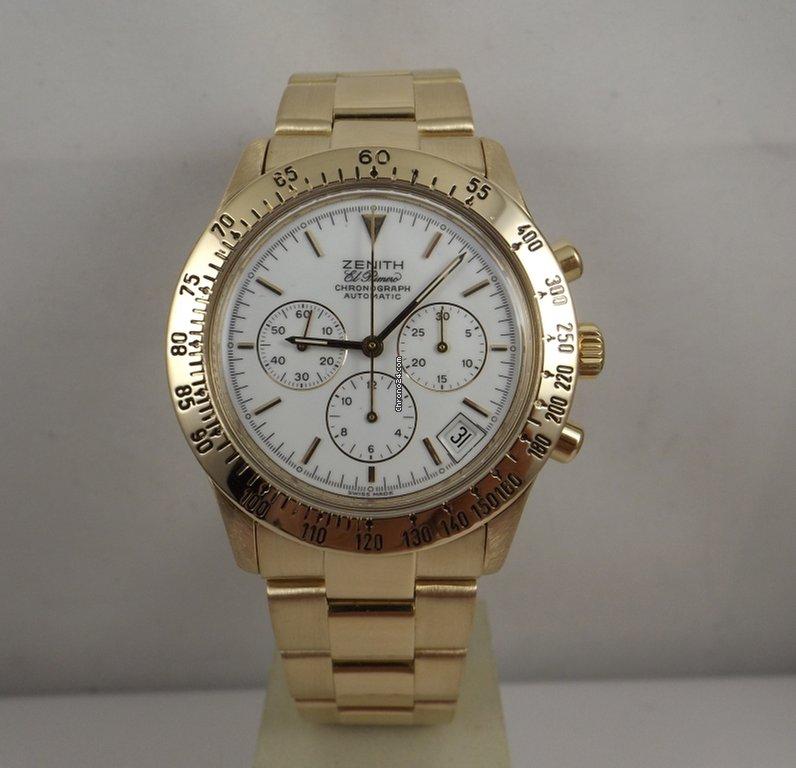 Orologi Zenith Oro giallo - Tutti i prezzi di orologi Zenith Oro giallo su  Chrono24 969b2812f4