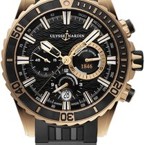 Ulysse Nardin Diver Chronograph Rose gold Black United States of America, New York, Brooklyn