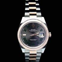 Rolex Datejust II Goud/Staal 41mm Bruin Geen cijfers Nederland, Wageningen