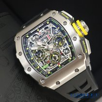 Richard Mille RM 011 Titanio 49.94mm Transparente Árabes