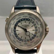 Patek Philippe World Time Bílé zlato 39.5mm Stříbrná Bez čísel