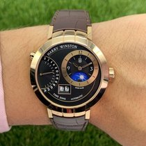Harry Winston Premier Rose gold 41mm Black