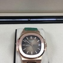 Patek Philippe Rose gold Automatic Brown No numerals 40mm new Nautilus