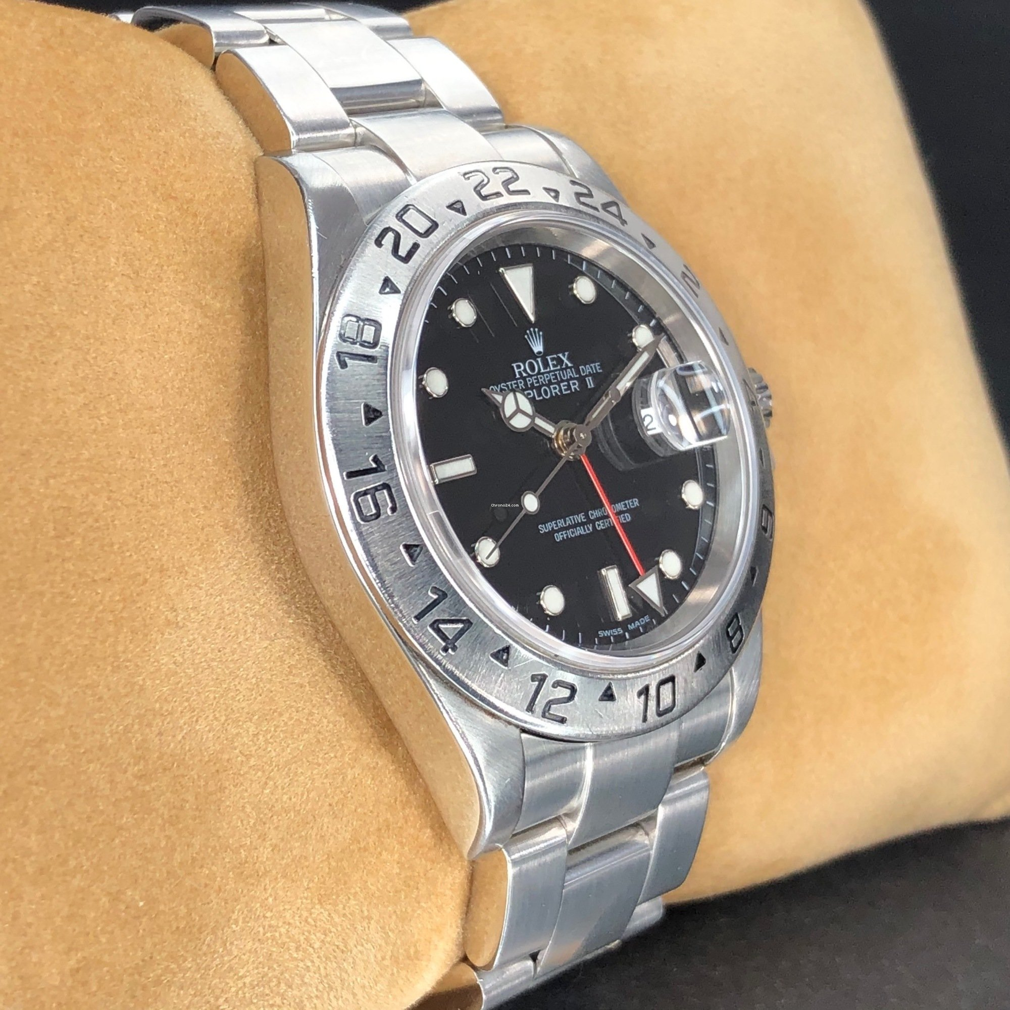 Rolex 16570T Explorer II, Black Dial, 2005 06 +Box für 5 599
