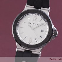 Bulgari Diagono Ceramika 42mm Srebrny