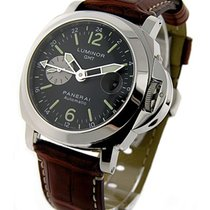 Panerai PAM00088 Luminor GMT Marina PAM 88 in Steel - on Brown...