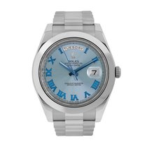 Rolex Day-Date II Platinum 41mm Blue Roman numerals United States of America, New York, New York