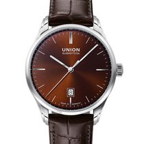 Union Glashütte Viro Date Steel 41mm Brown No numerals