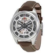 Hamilton Khaki Skeleton Dial Leather Strap Men's Watch...
