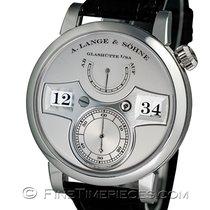 A. Lange & Söhne Platinum Manual winding Silver 41.9mm new Zeitwerk