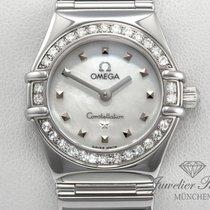 Omega Constellation Lady Edelstahl Diamanten Perlmutt