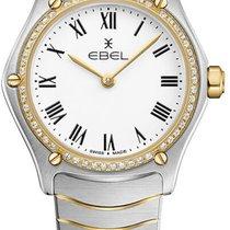Ebel Sport Altın/Çelik 24mm Beyaz