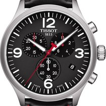 Tissot Chronograaf 45mm Quartz 2018 nieuw Zwart