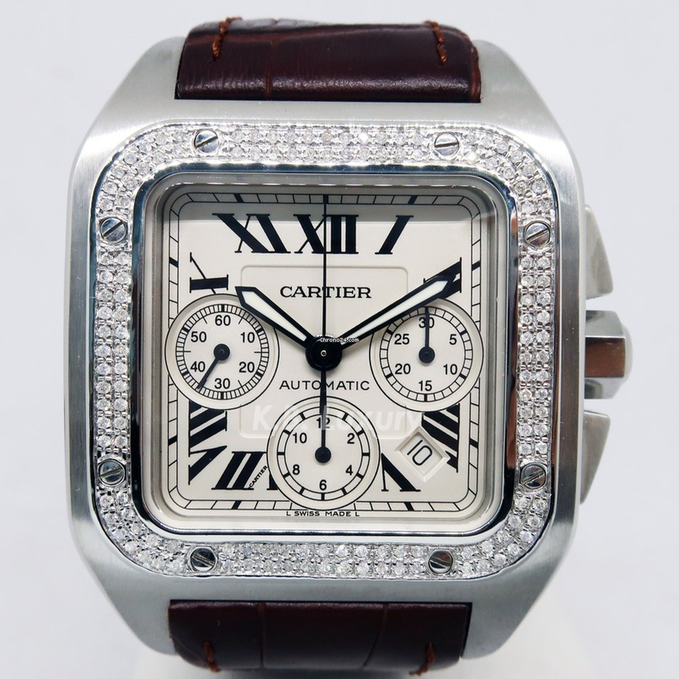 1b7ee7d58be Cartier Santos 100 - Todos os preços de relógios Cartier Santos 100 na  Chrono24