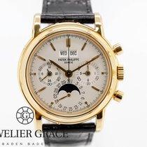 Patek Philippe Perpetual Calendar Chronograph 3970EJ 014 Nienoszony Żółte złoto Automatyczny