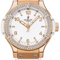 Hublot Roségold Quarz Weiß Arabisch 38mm neu Big Bang 38 mm