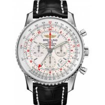 Breitling Navitimer GMT Steel 48mm Silver