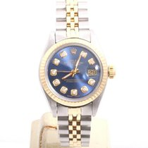 Rolex Lady-Datejust Or/Acier 26mm Bleu