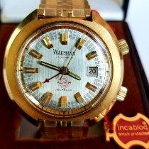 Wakmann neu Handaufzug Leuchtindizes 42mm Gold/Stahl